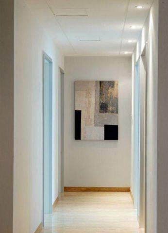 客厅白色走廊现代简约风格装饰图片