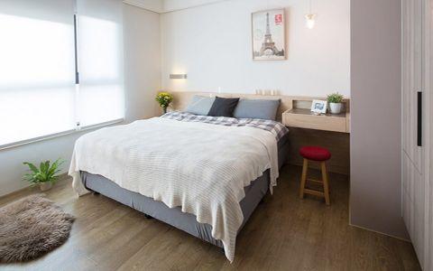 卧室灰色细节北欧风格装饰设计图片