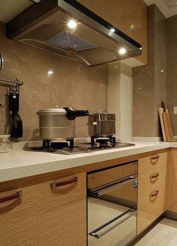 厨房咖啡色橱柜简约风格装修效果图