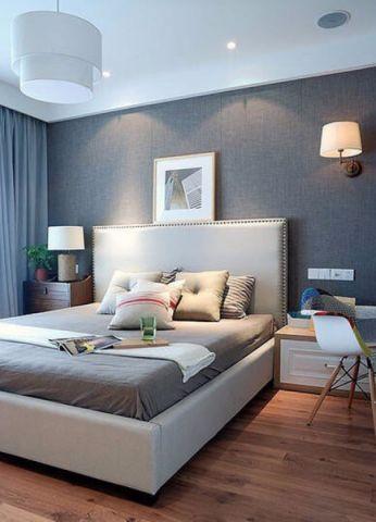 卧室白色吊顶简约风格装潢效果图