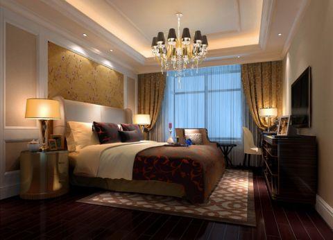 卧室窗帘简欧风格装潢设计图片