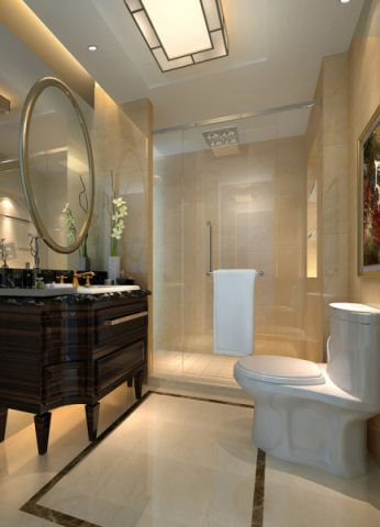 卫生间背景墙简欧风格装饰效果图