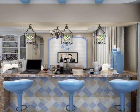 客厅隔断地中海风格装潢效果图