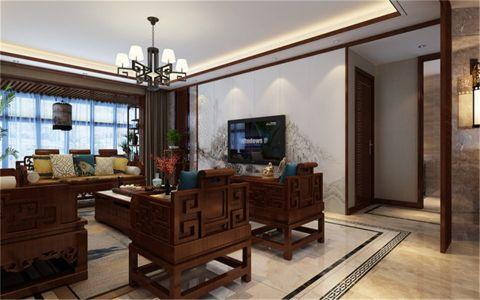 阳光汾河湾200平米新中式风格三居室装修效果图