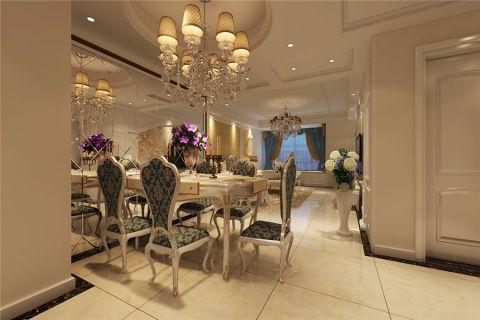 餐厅走廊简欧风格效果图