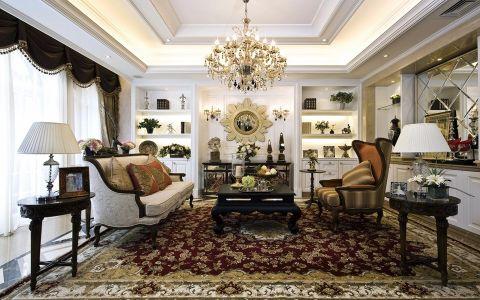 弘建一品110平欧式风格三居室装修效果图
