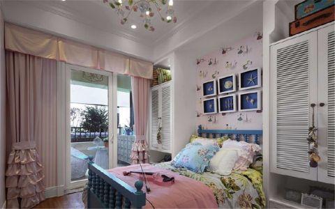 儿童房背景墙地中海风格装潢图片
