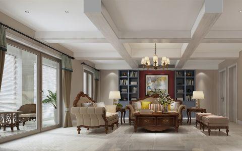 保利香槟170平米美式三居室装修效果图