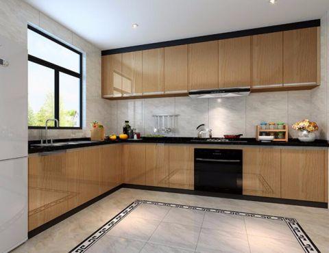厨房橱柜现代中式风格装修图片