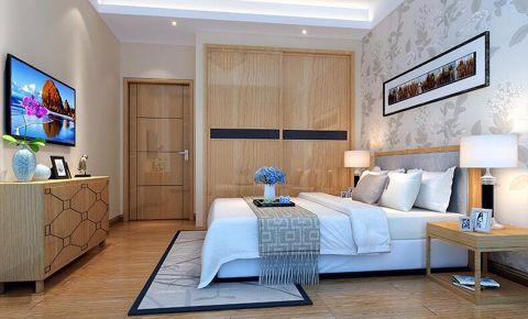卧室背景墙现代中式风格装饰图片