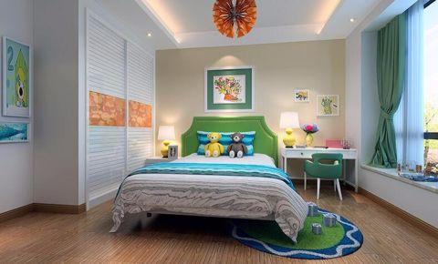 儿童房飘窗现代中式风格装潢图片