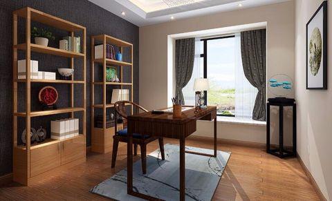 书房飘窗现代中式风格装饰设计图片
