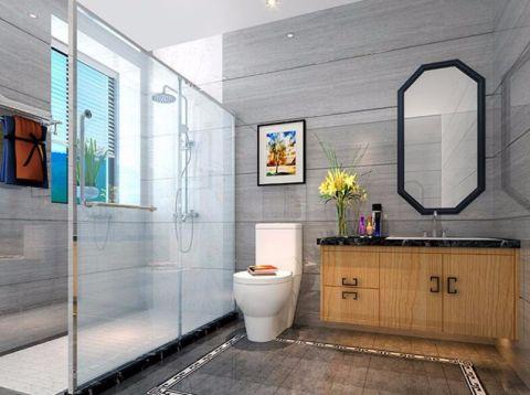 卫生间隐形门现代中式风格装潢设计图片
