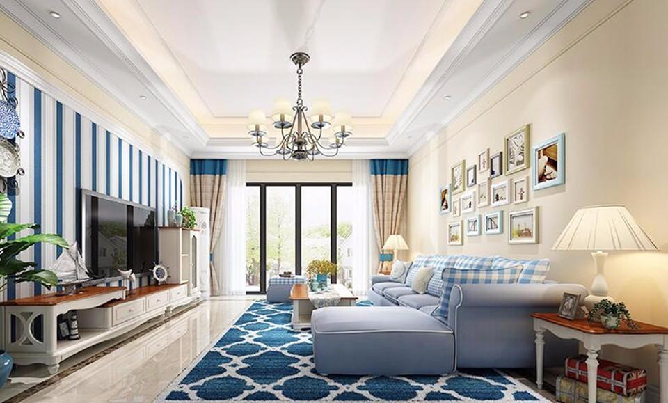 3室2卫2厅100平米地中海风格