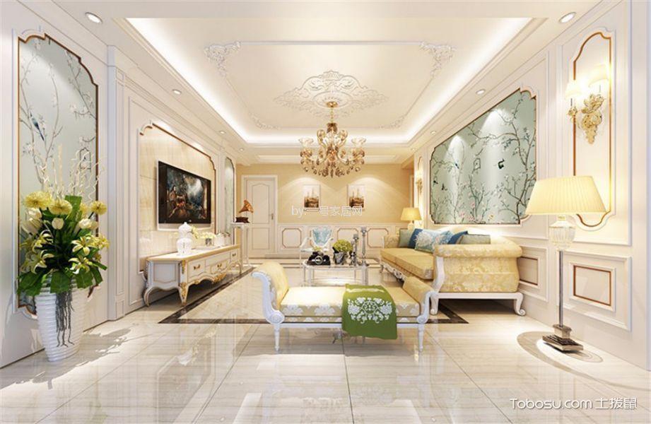 郑州128平三居室美式风格装修案例效果图