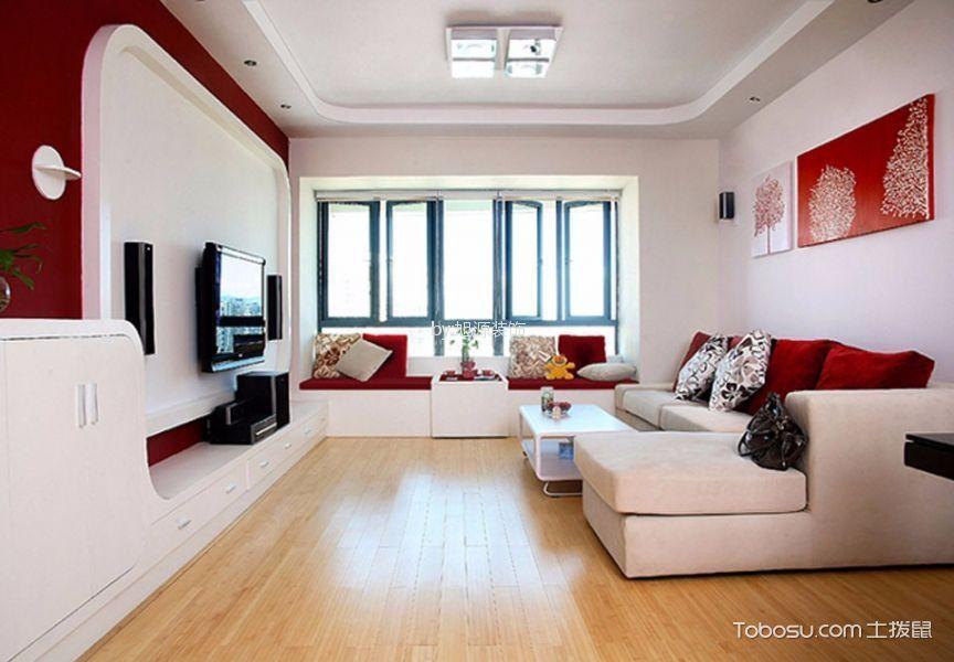 翡丽湾100平米现代简约两居装修效果图