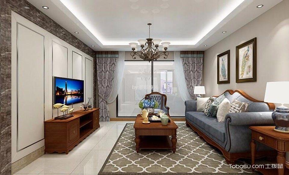 雨润城112平美式风格三居装修效果图