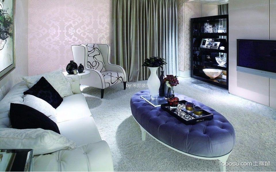 外滩一号101平欧式风格三居室装修效果图