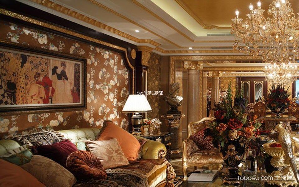 香溢澜桥138平欧式风格三居室装修效果图