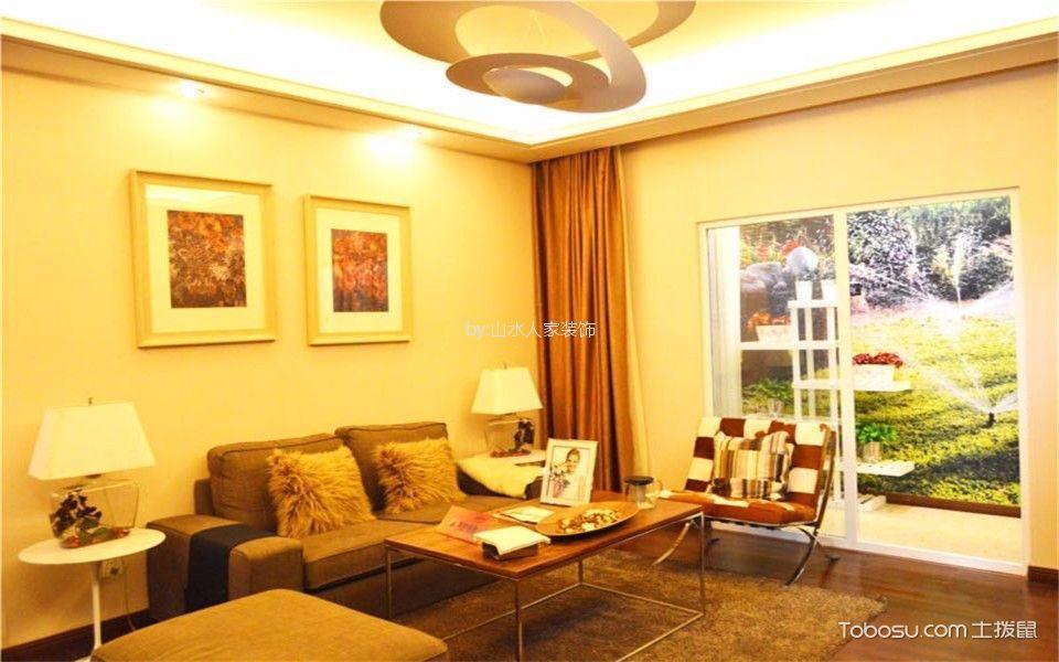香水湾117平美式风格三居室装修效果图