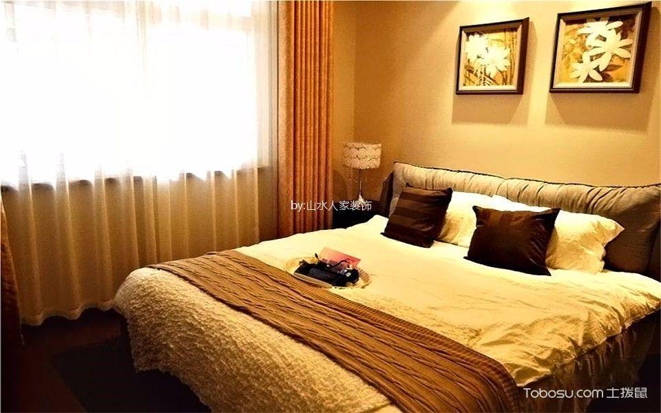卧室咖啡色细节美式风格装修图片