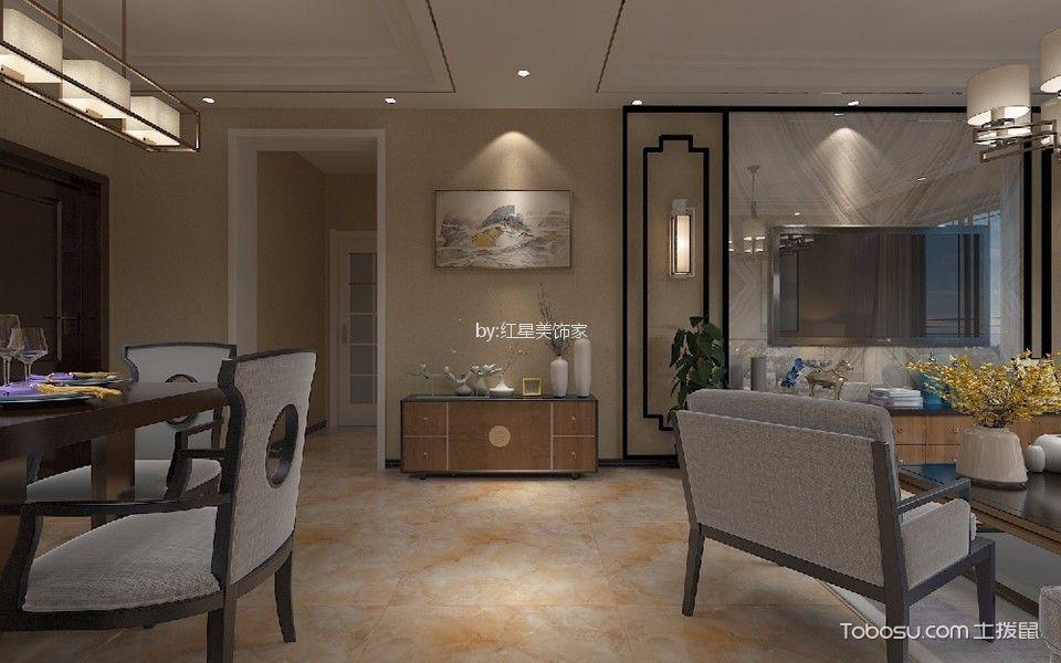 124平方米中式风格三居室装修效果图