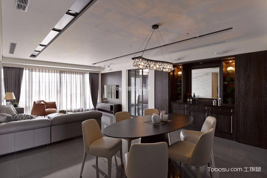 餐厅灰色吧台现代简约风格装潢设计图片