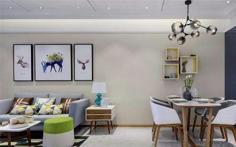 中海滨湖公馆114平现代简约三居室效果图