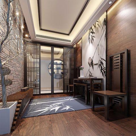 书房背景墙中式风格装饰设计图片