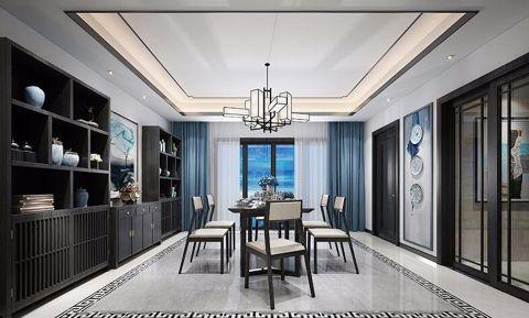 餐厅飘窗新中式风格装潢效果图