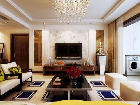 天一仁和郡125平简欧三居室装修设计图