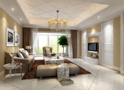 鑫苑鑫都汇145平米新古典风格三居室装修效果图