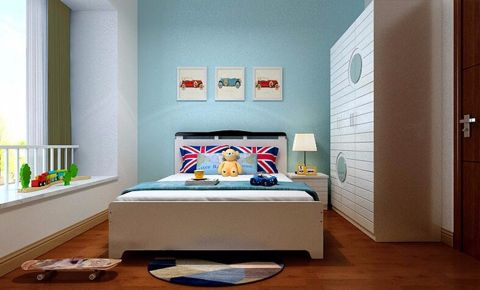 儿童房窗台现代简约风格效果图