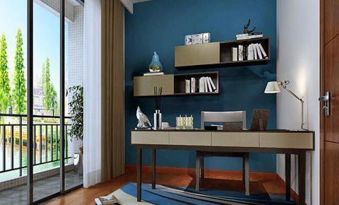 书房窗台现代简约风格装饰效果图