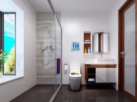 卫生间隔断现代简约风格装潢效果图