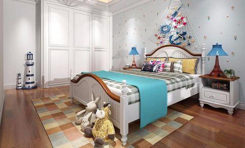 儿童房背景墙地中海风格装饰设计图片