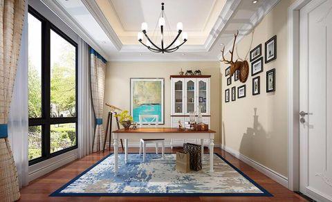 书房窗帘地中海风格效果图