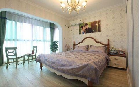 卧室背景墙田园风格装潢图片