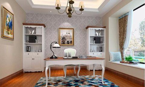书房窗台美式风格装饰设计图片