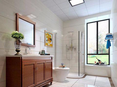 卫生间窗台美式风格装潢设计图片