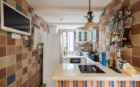 厨房背景墙地中海风格装潢效果图