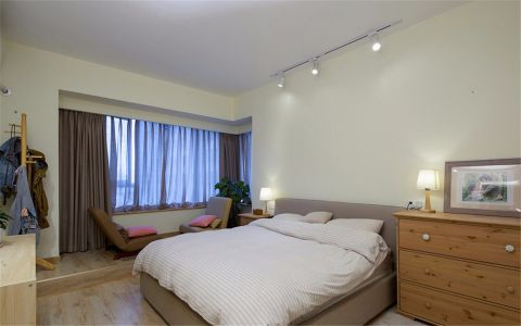 卧室背景墙简约风格装潢设计图片