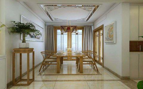 东城逸家180平新中式风格四居室装修效果图