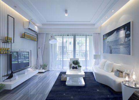 首开香溪郡74平米现代简约风格二居室装修效果图