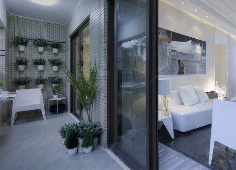 阳台细节现代简约风格装潢效果图