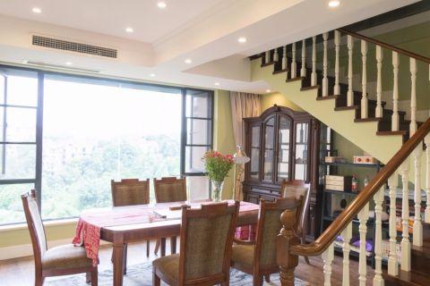 餐厅楼梯美式风格装修效果图