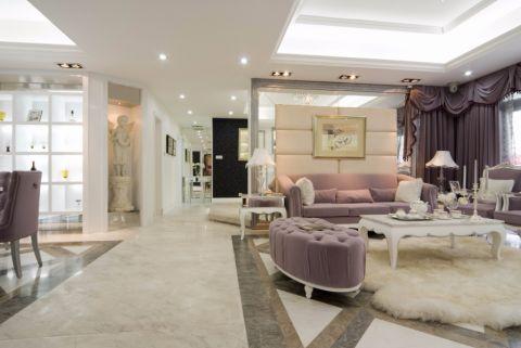 客厅走廊简欧风格装潢图片