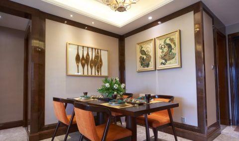 餐厅背景墙东南亚风格装饰效果图