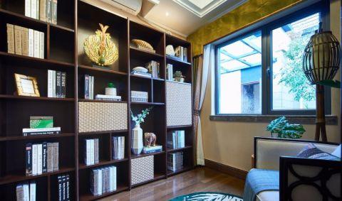 书房橱柜东南亚风格装潢效果图