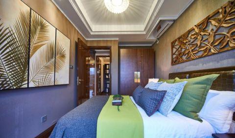 卧室吊顶东南亚风格装修设计图片